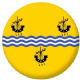 Outer Hebrides Flag 58mm Button Badge